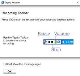 Recording Toolbar