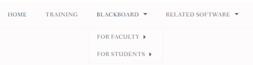 Sub-headers for Faculty & Students