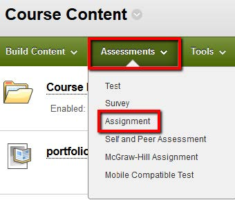 Assessments tab