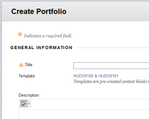 Create Portfolio page