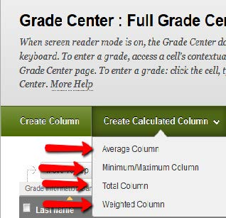 Create Calcualted Column tab