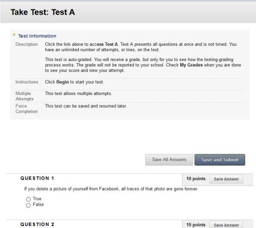 Blackboard Test