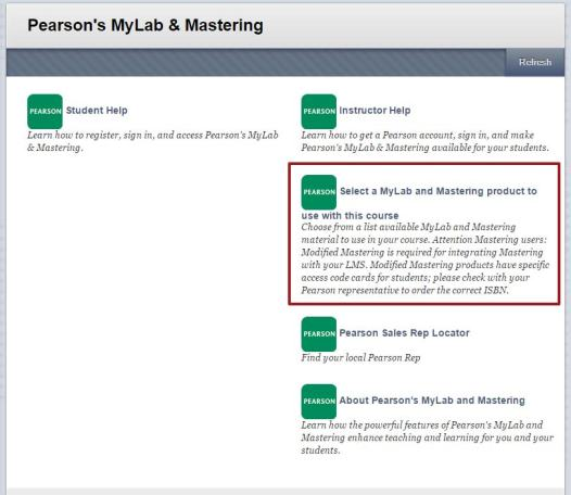 Pearson's MyLab & Mastering page