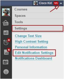 Bb Global Navigation Menu screenshot