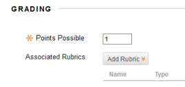 Add Rubric button