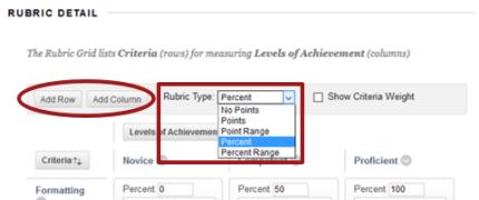 Rubric Detail screenshot